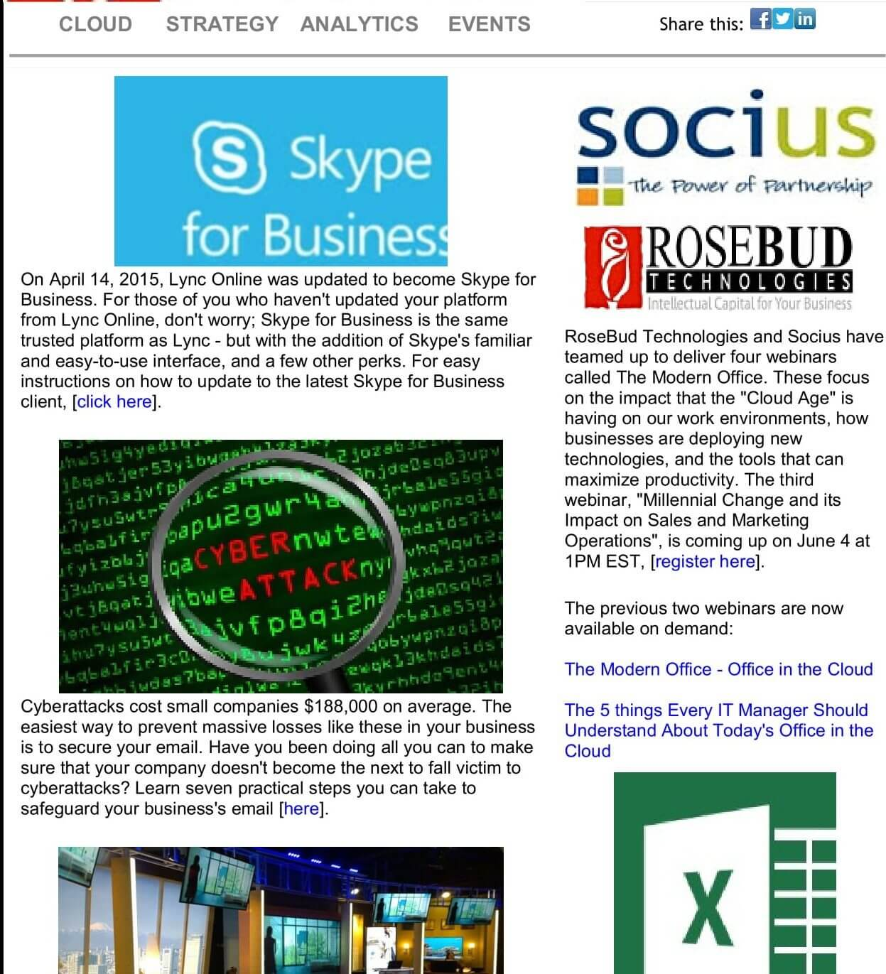 Newsletter - Monthly
