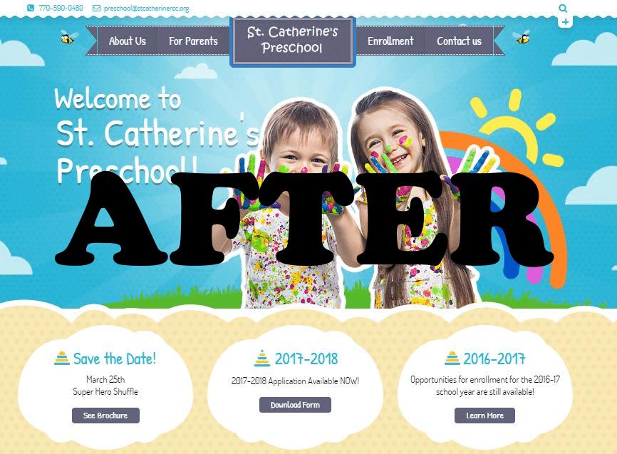 Website Redesign - Before/After